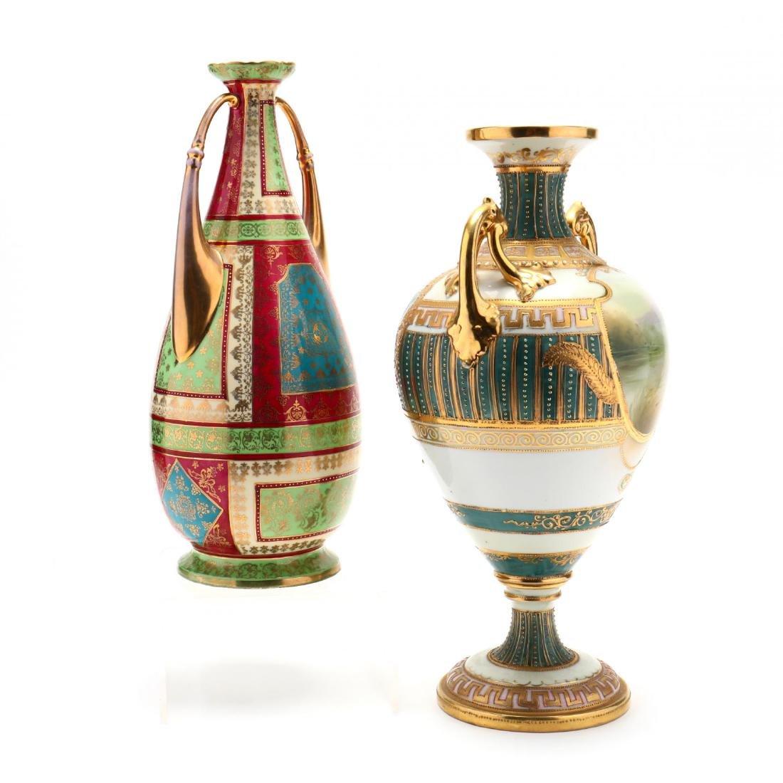 Two Antique Porcelain Vases - 4