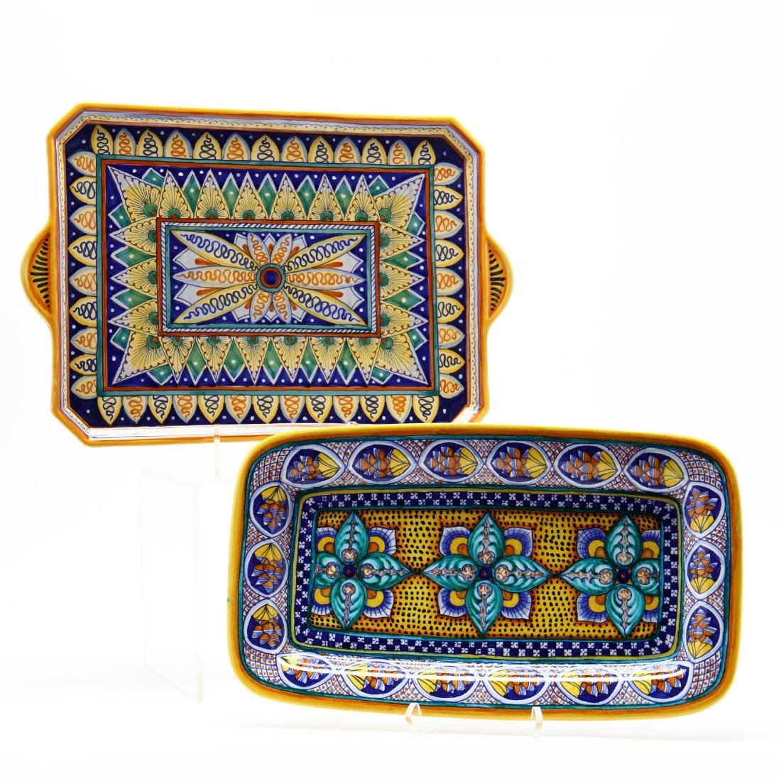 Deruta Italy, Two Ceramic Serving Trays