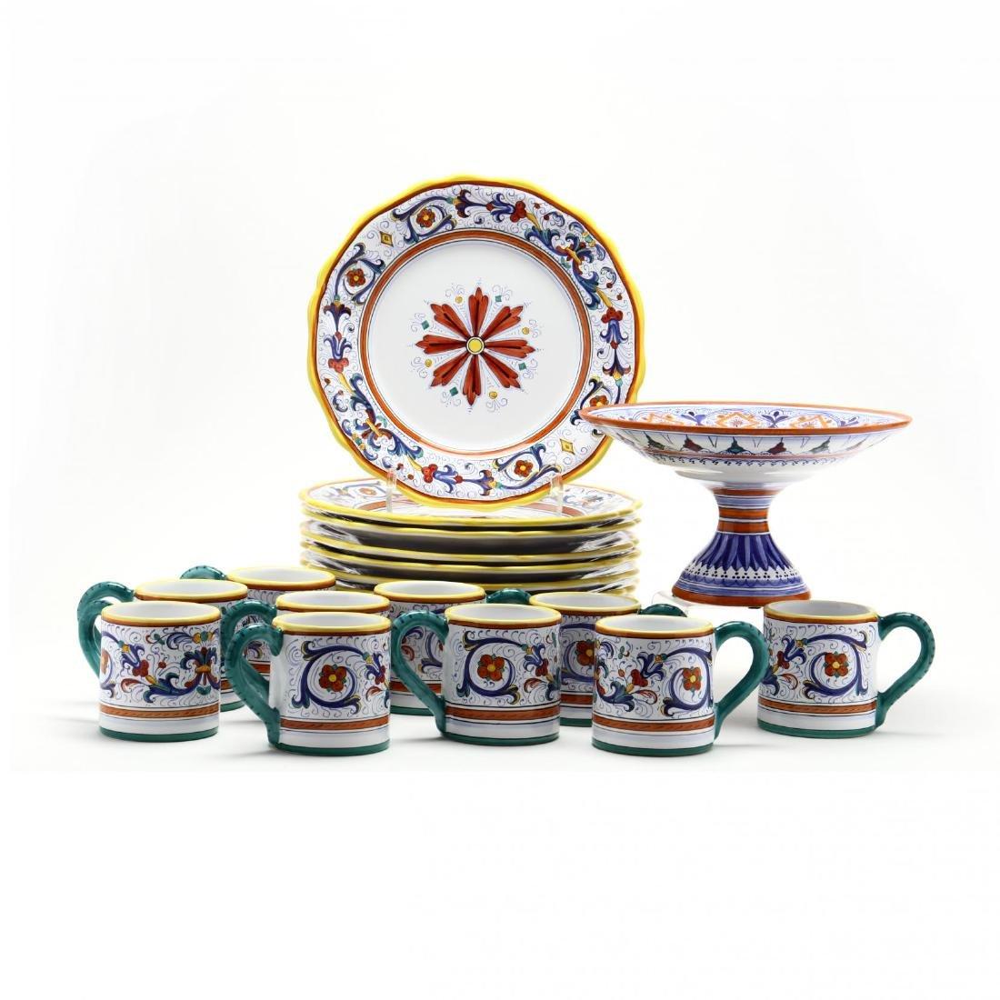 Deruta Italy Ceramic Plates and Mugs