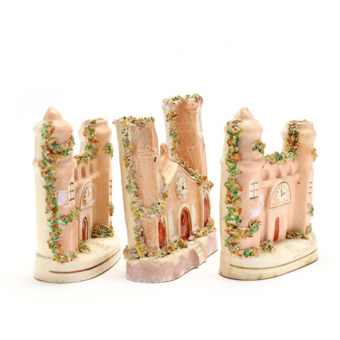 Staffordshire Incense Burner and Vases - 3