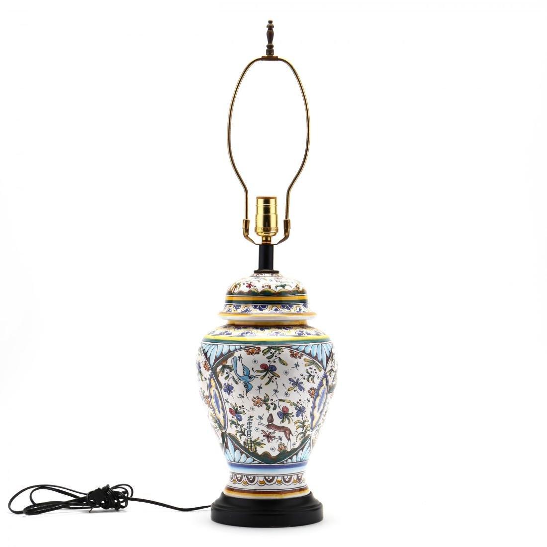 Italian Pottery Table Lamp