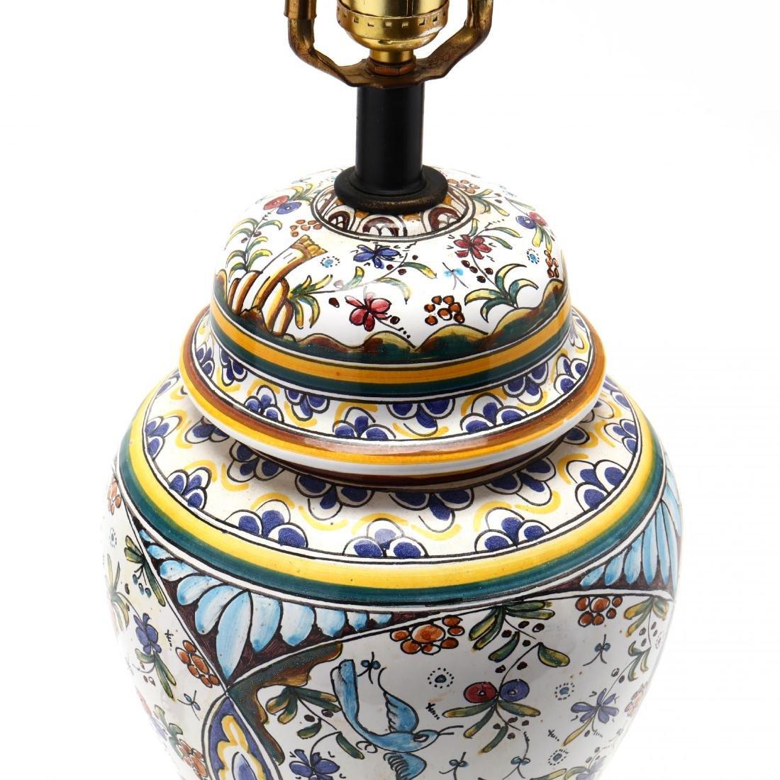 Italian Pottery Table Lamp - 2