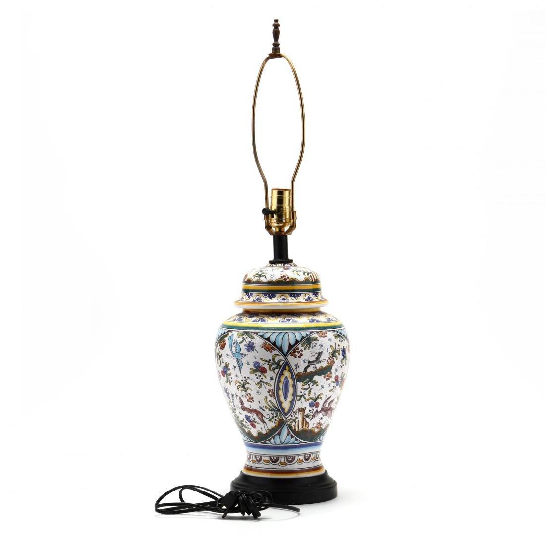 Italian Pottery Table Lamp - 3