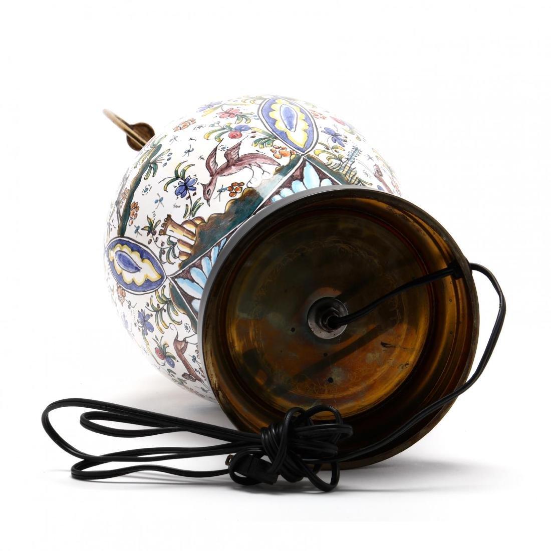 Italian Pottery Table Lamp - 5
