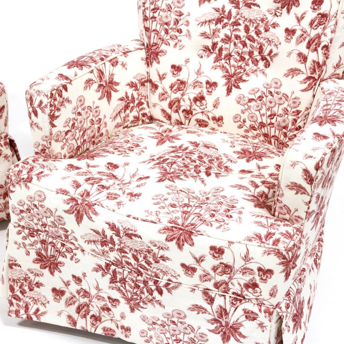 Two Vintage Over Upholstered Chairs - 2