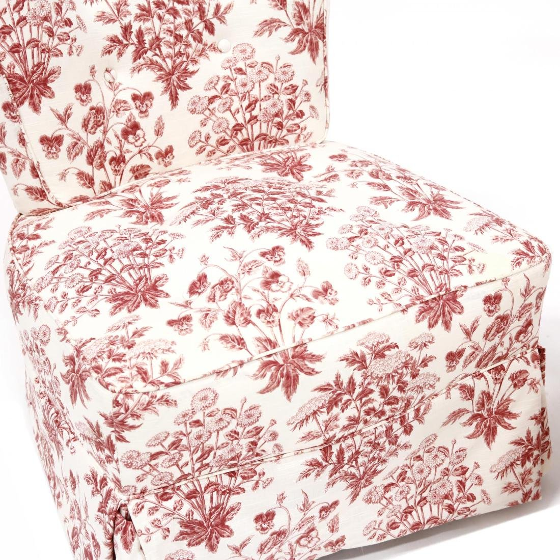 Two Vintage Over Upholstered Chairs - 3
