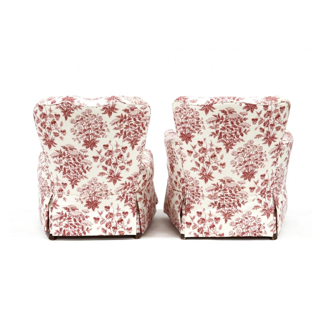 Two Vintage Over Upholstered Chairs - 4