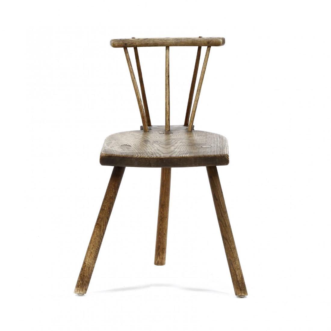 Antique Brace Back Chair