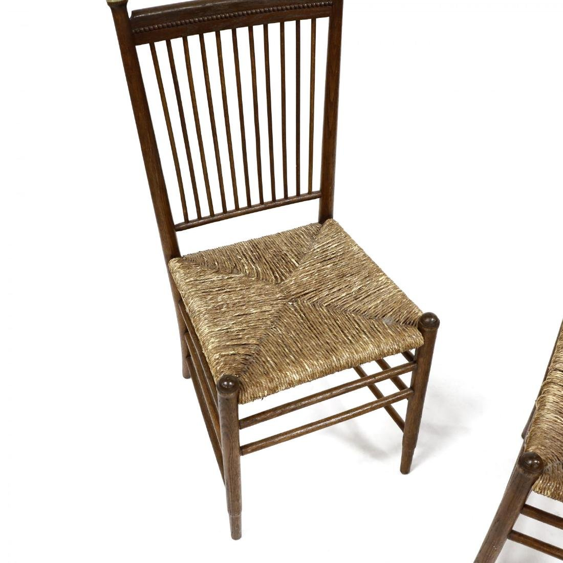 Pair of Antique Oak Spindle Back Chairs - 3