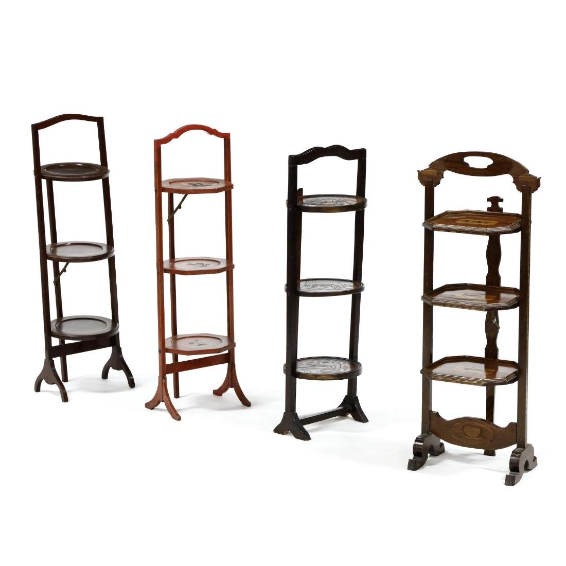 Four Vintage Muffin Stands
