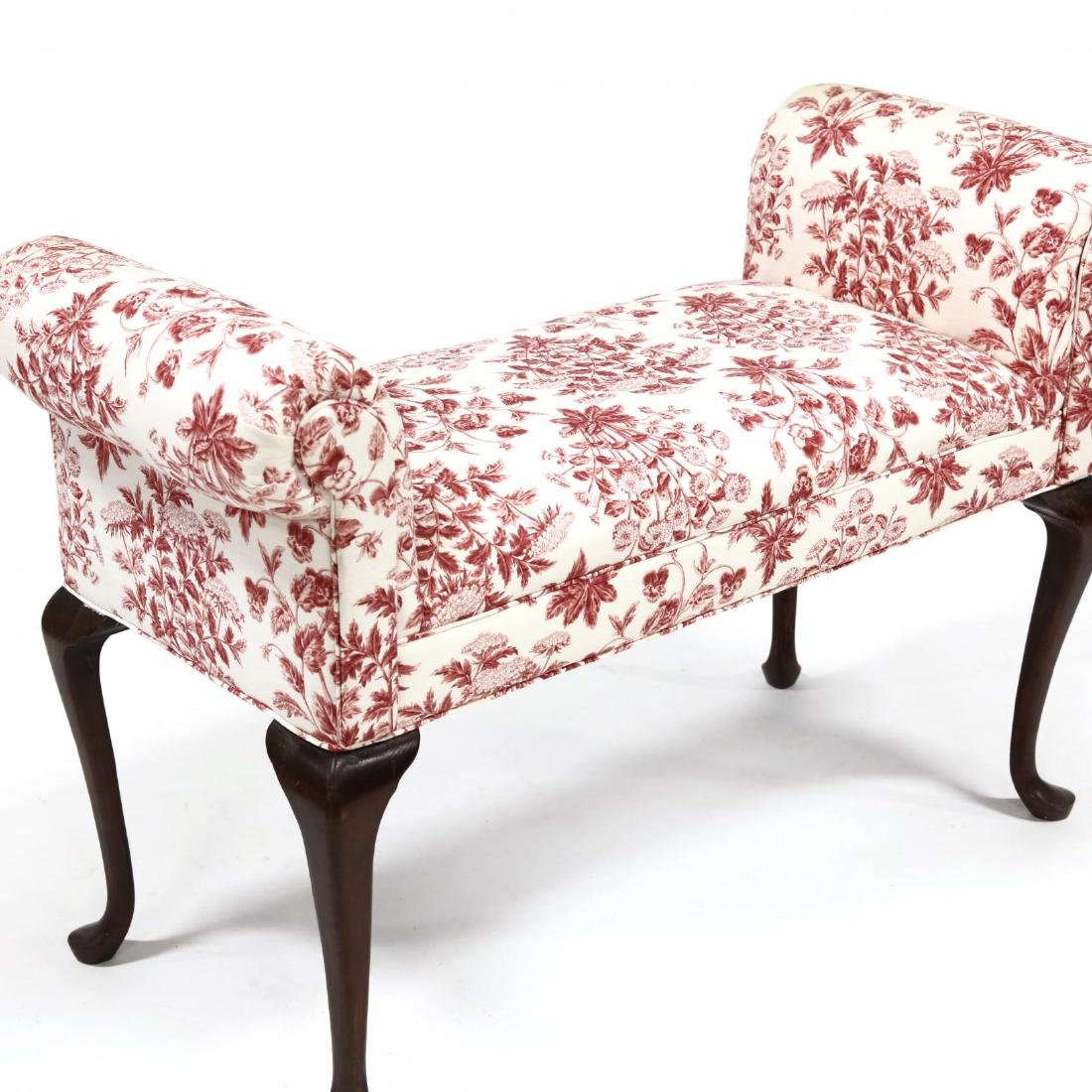 Queen Anne Style Over Upholstered Bench - 2