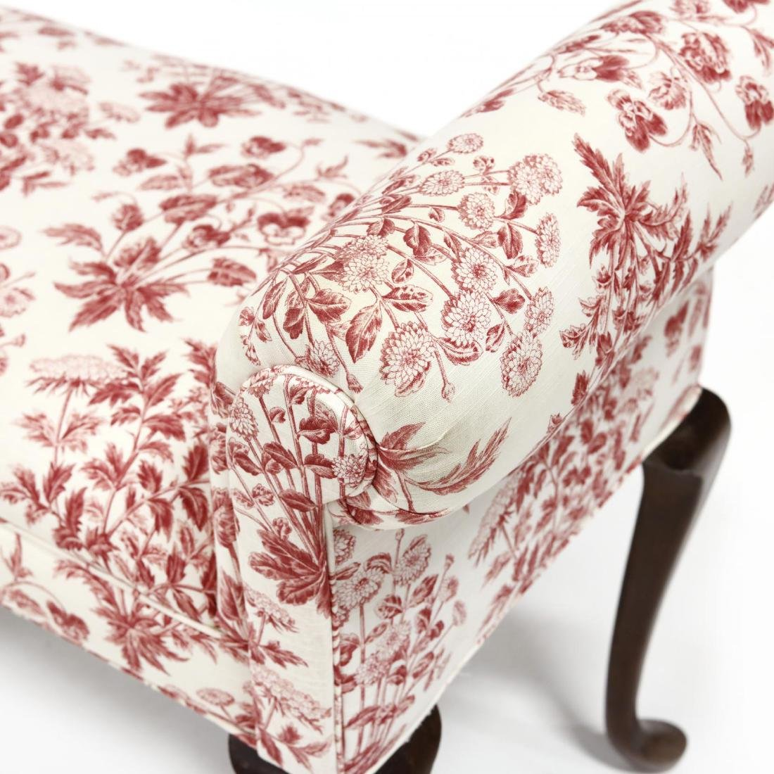 Queen Anne Style Over Upholstered Bench - 4