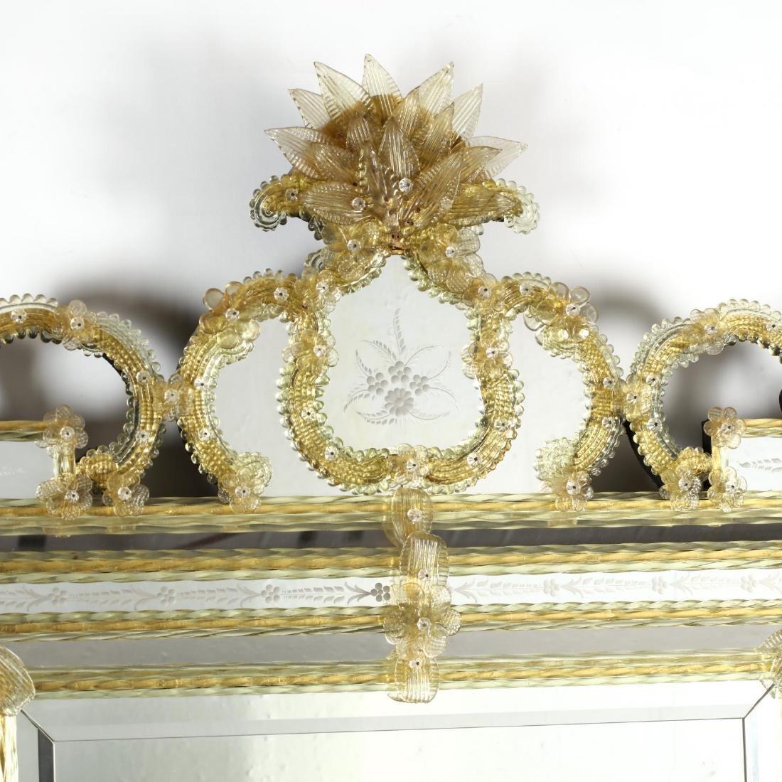 Large Vintage Venetian Mirror - 2