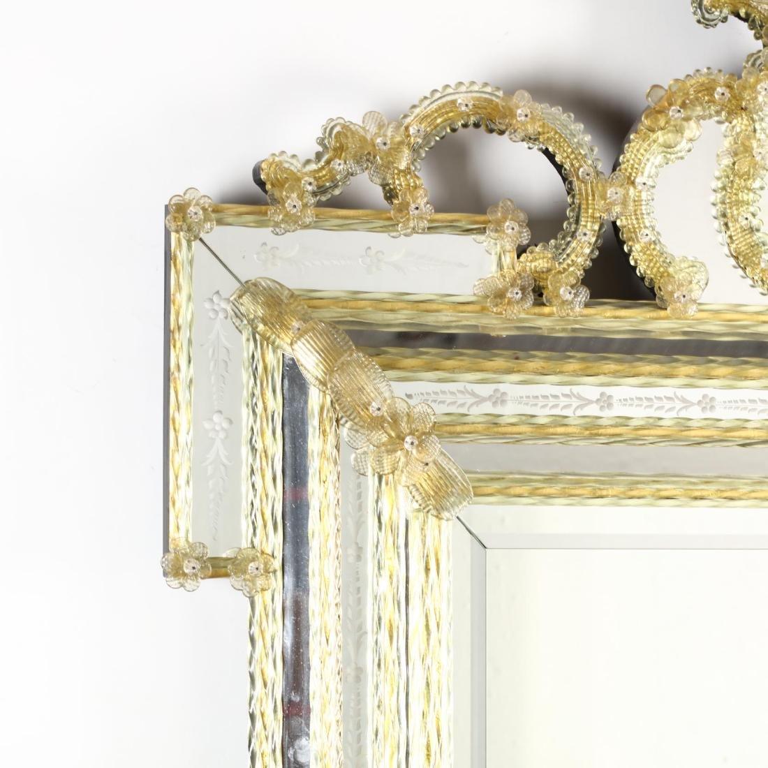 Large Vintage Venetian Mirror - 3