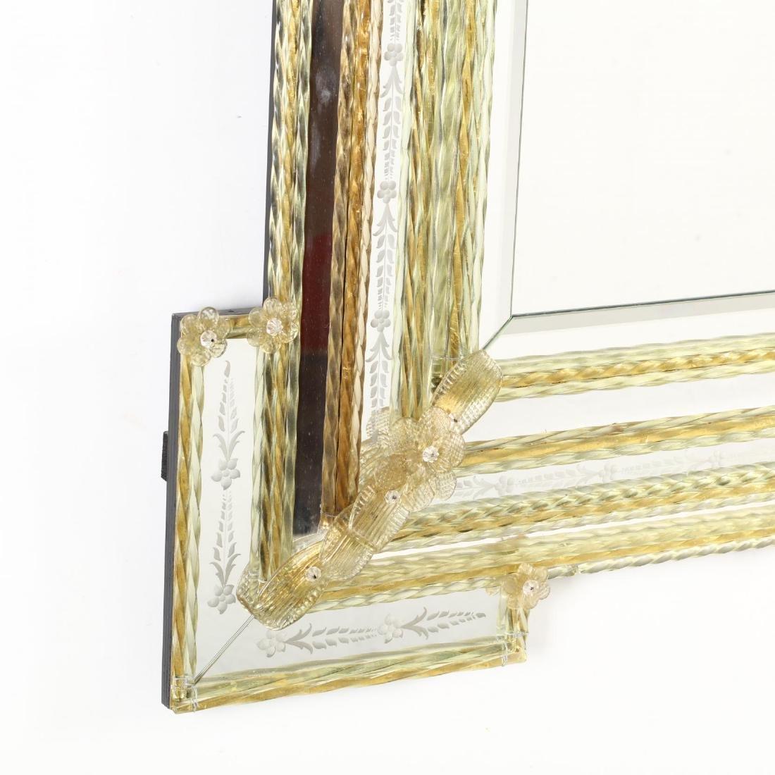 Large Vintage Venetian Mirror - 4