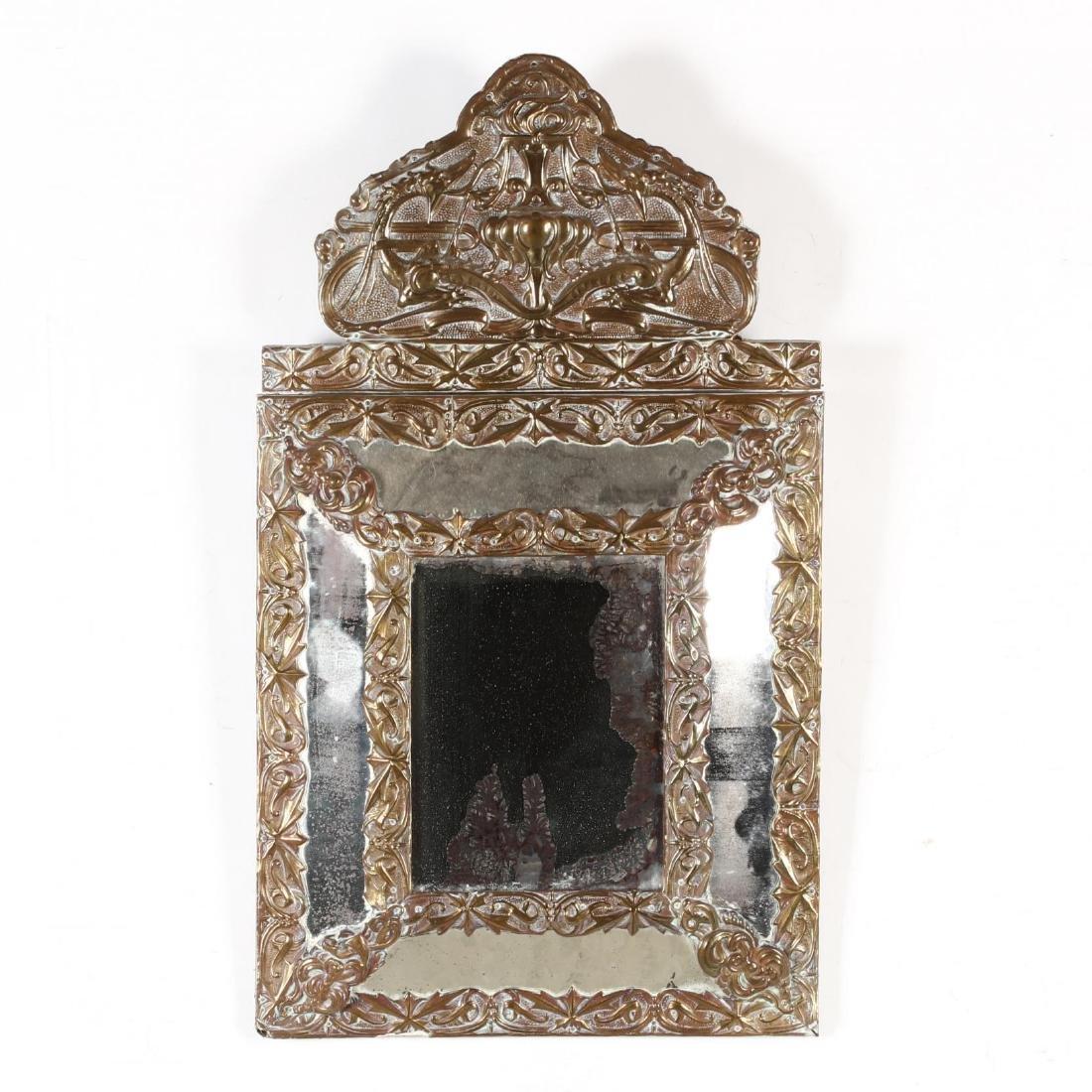 An Antique Continental Art Nouveau Mirror