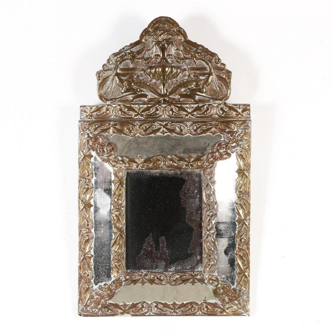 An Antique Continental Art Nouveau Mirror