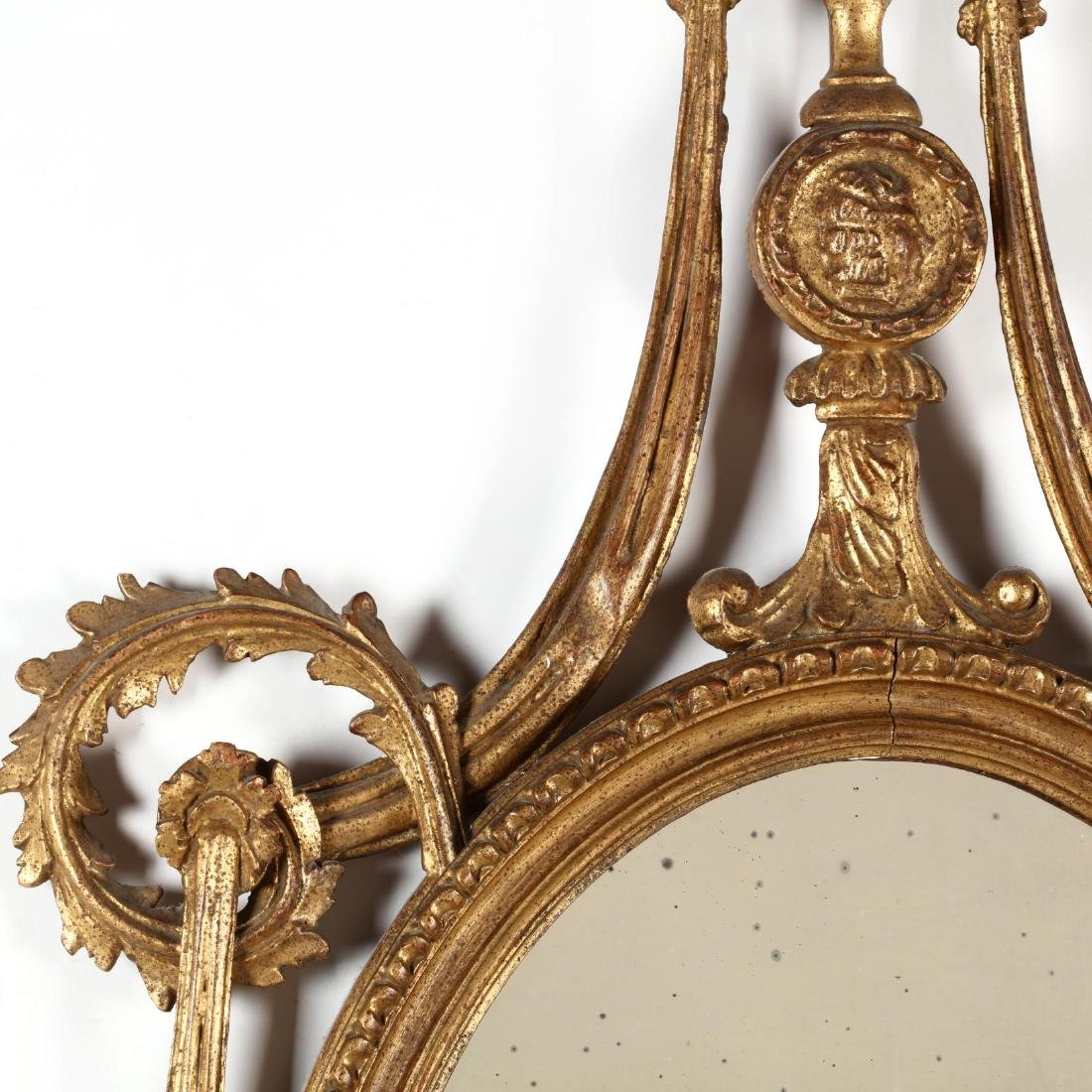 Vintage Italian Carved and Gilt Looking Glass - 2