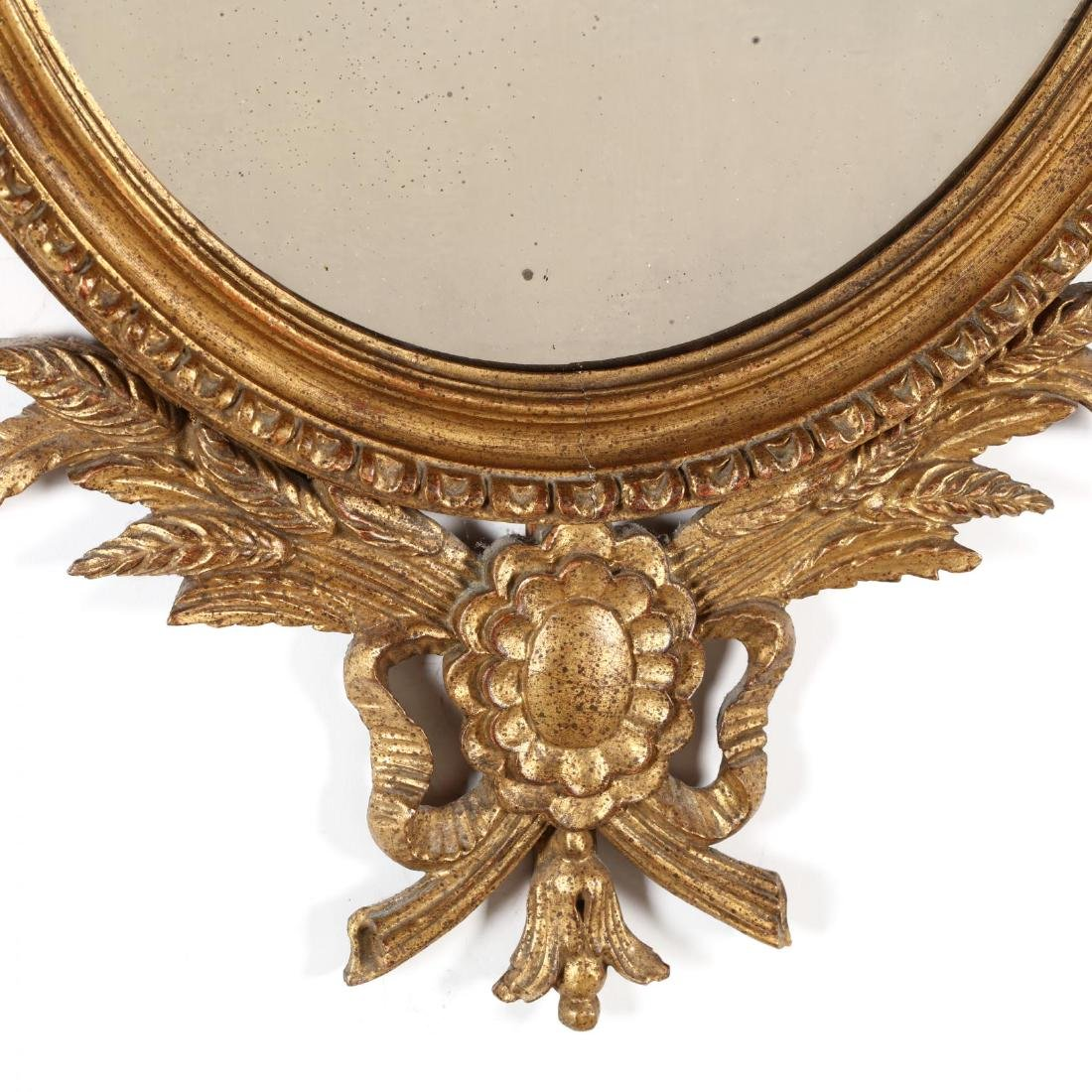 Vintage Italian Carved and Gilt Looking Glass - 3