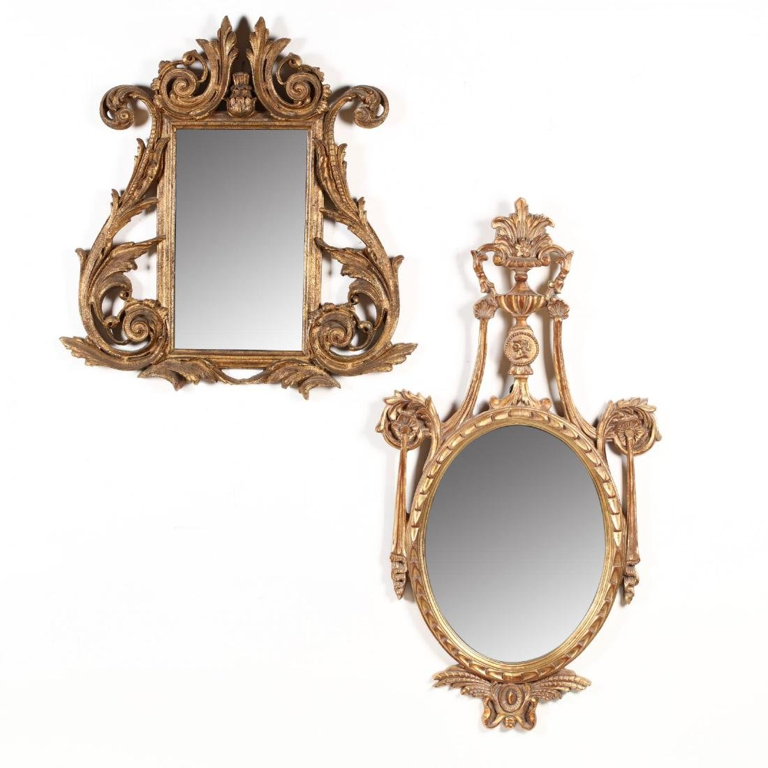 Two Decorative Continental Gilt Mirrors
