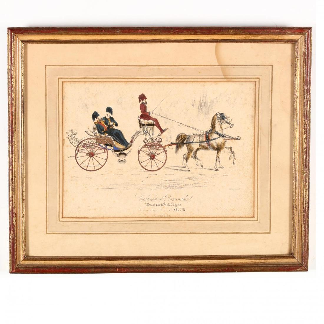 Two Pairs of Framed French Prints - 2