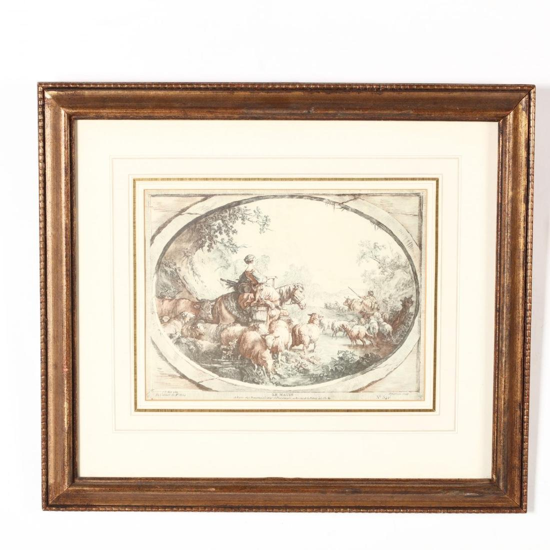 Two Pairs of Framed French Prints - 4