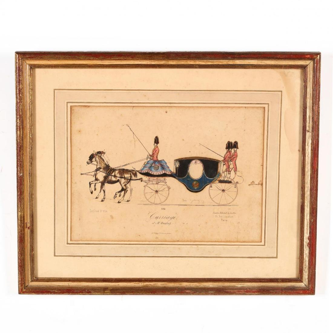 Two Pairs of Framed French Prints - 6