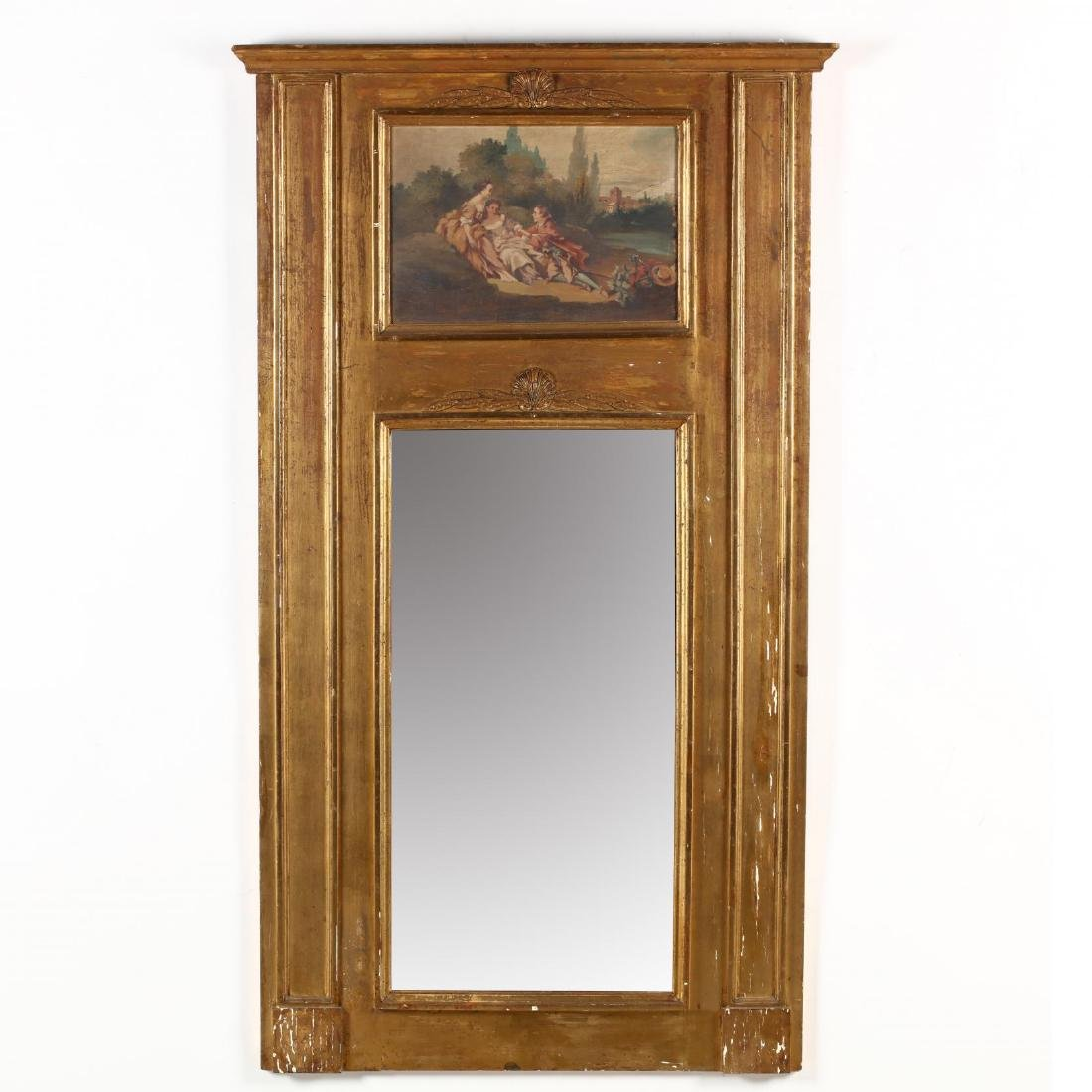 Antique French Classical Trumeau Mirror