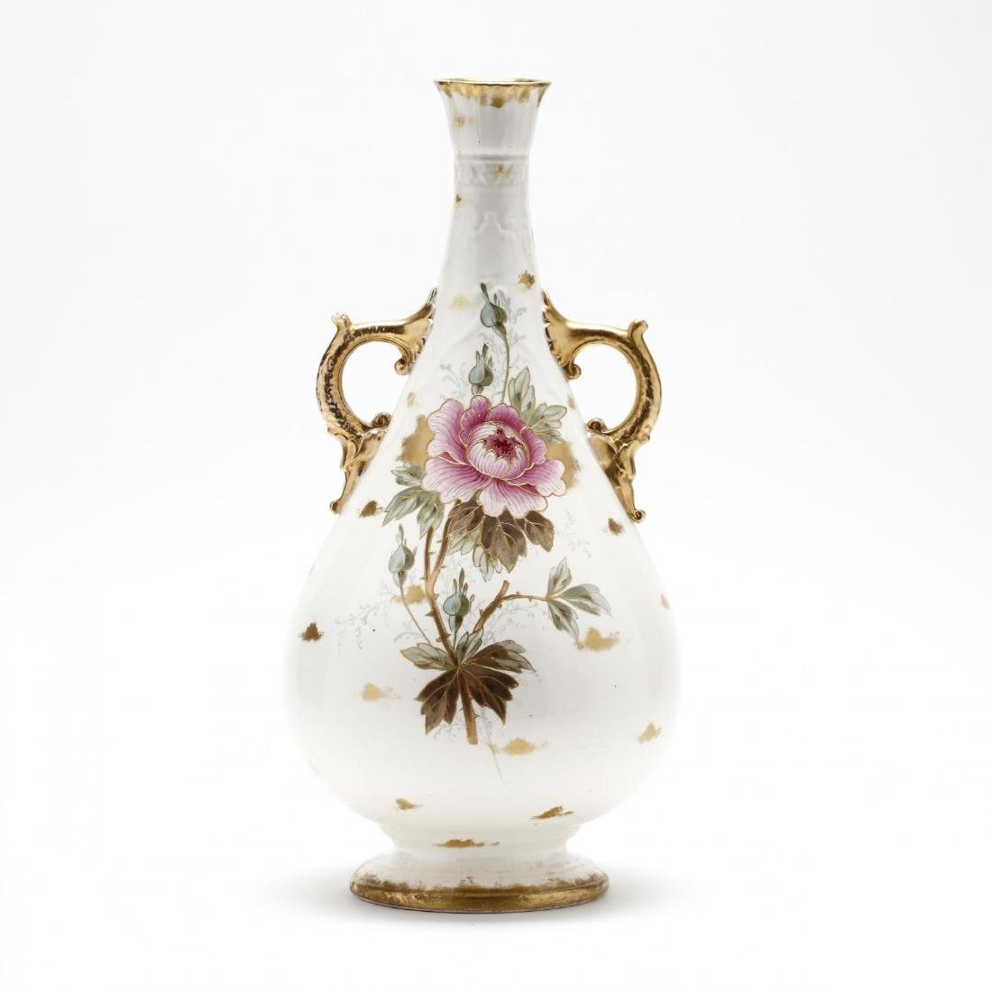 Royal Bonn, Tall Floral Vase - 2