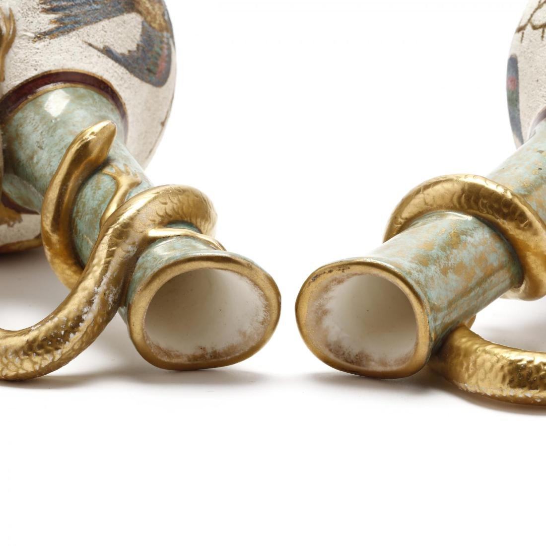 Royal Bonn, Pair of Serpent Wrapped Ewers - 3