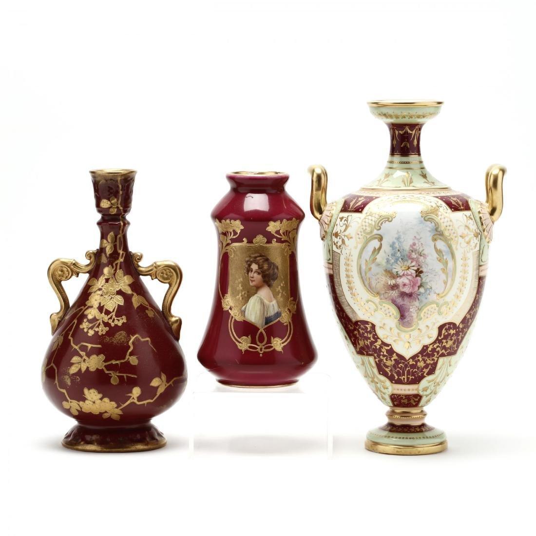 Royal Bonn, Art Nouveau Vase Set