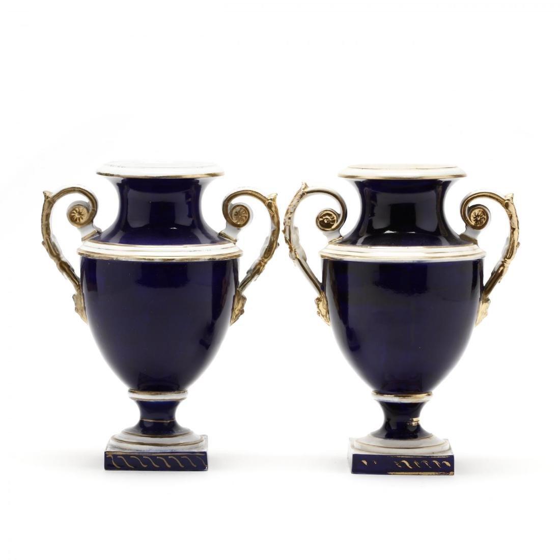 Bloor Derby, Pair of Mantle Urns - 2