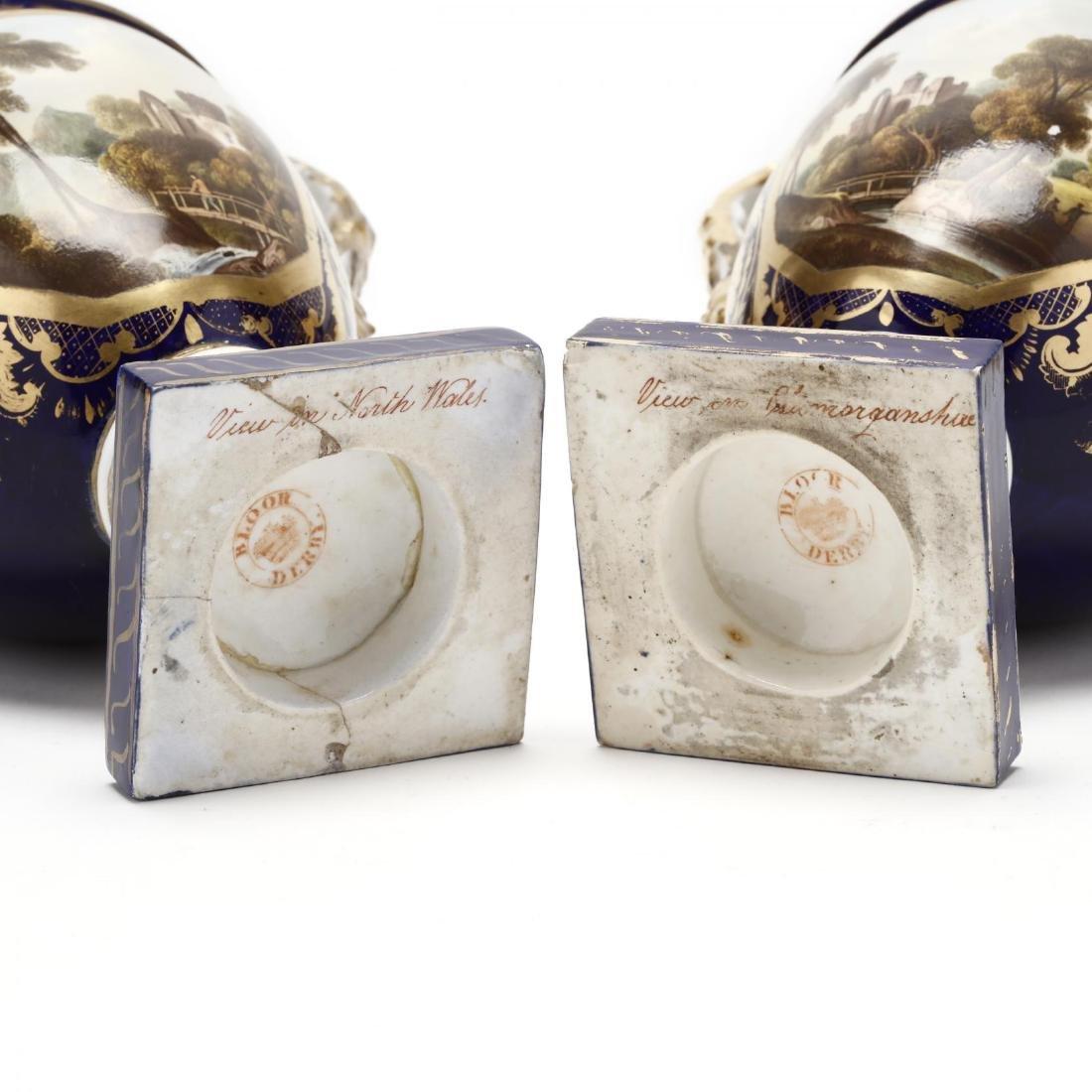 Bloor Derby, Pair of Mantle Urns - 4