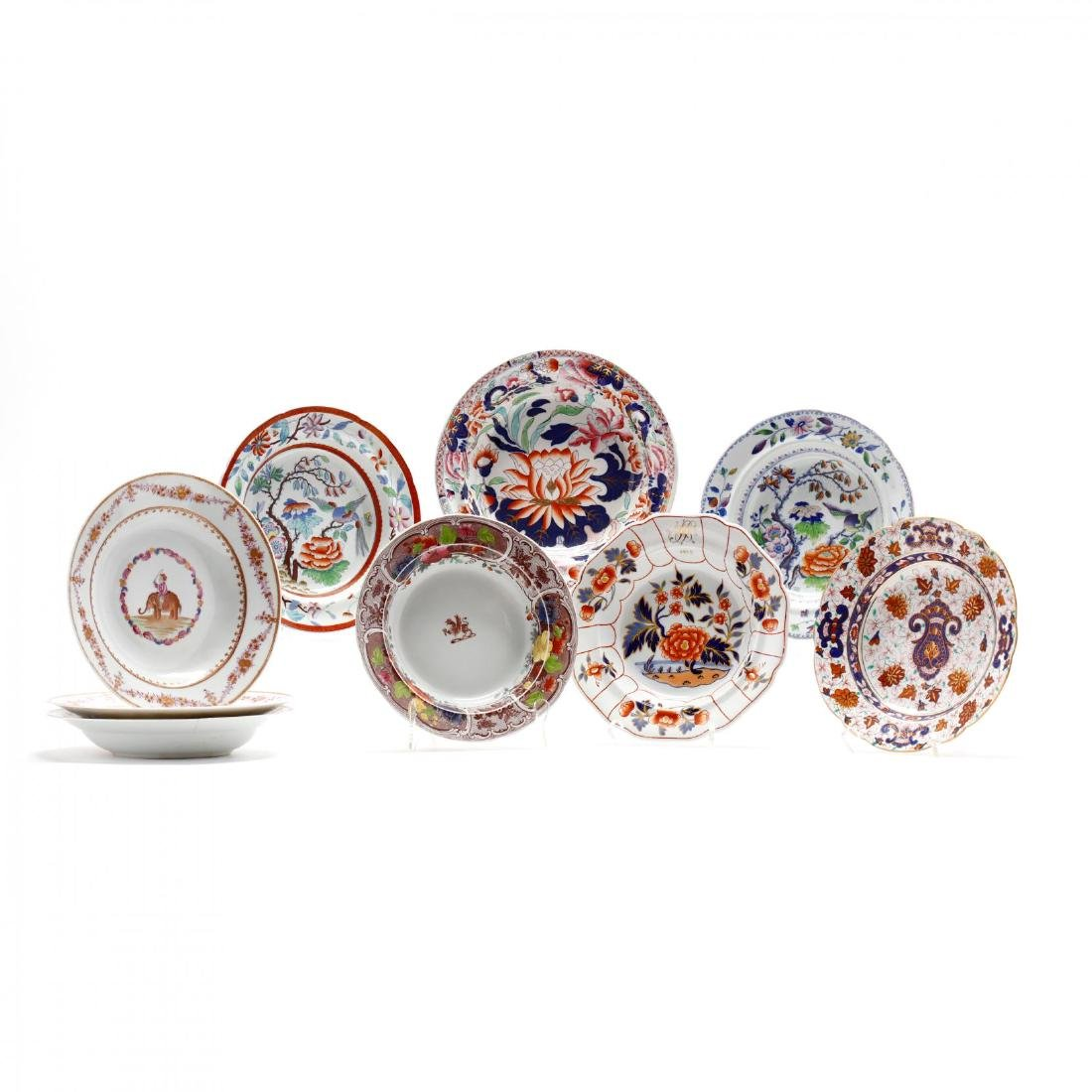 A Collection of Antique Soup Bowls
