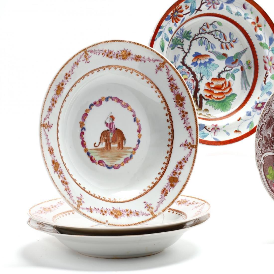 A Collection of Antique Soup Bowls - 2