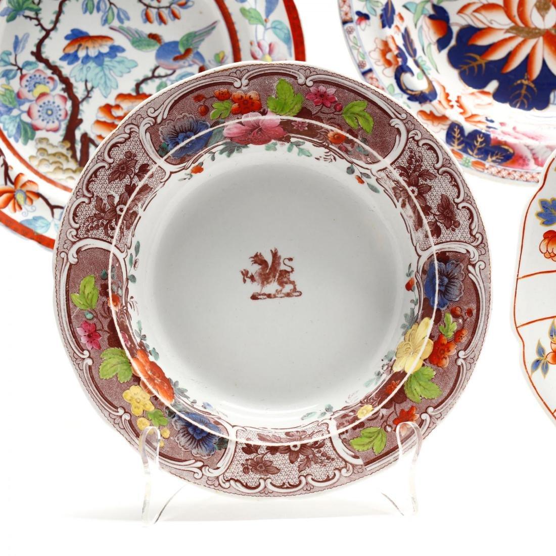 A Collection of Antique Soup Bowls - 5