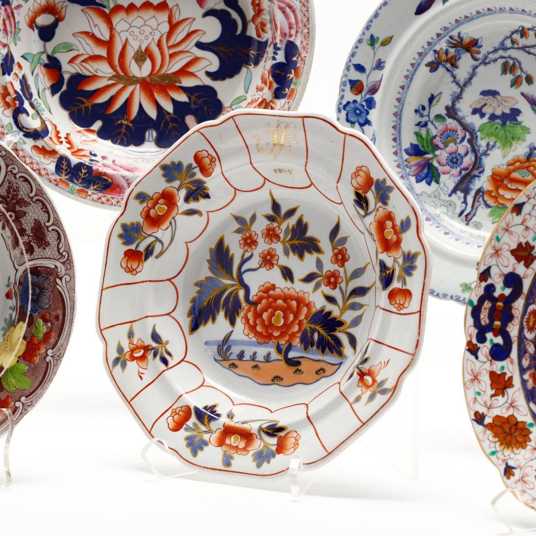 A Collection of Antique Soup Bowls - 6