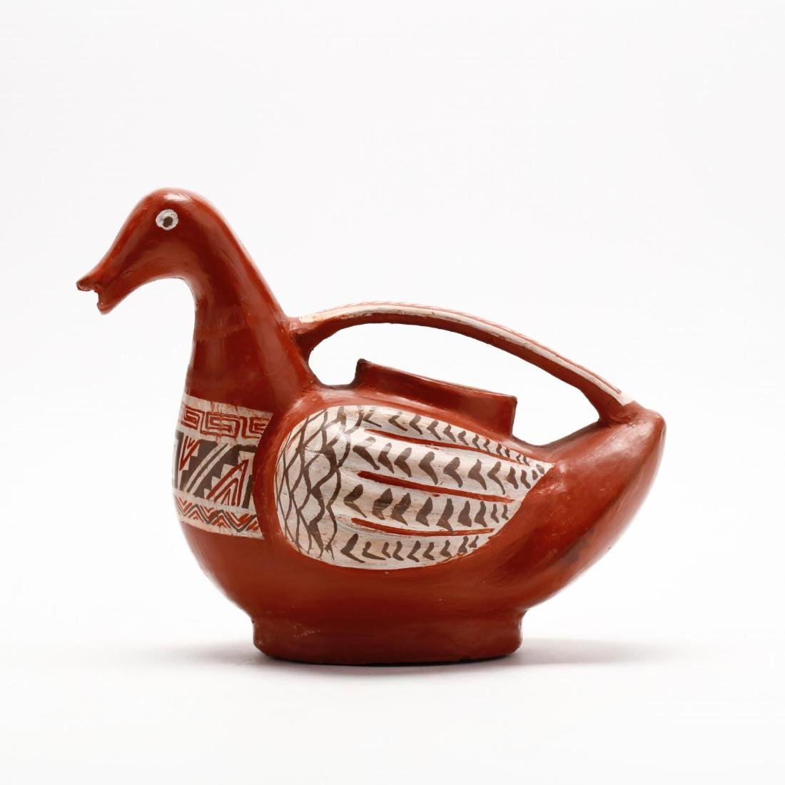 Mexican Pottery Bird Pitcher - 3