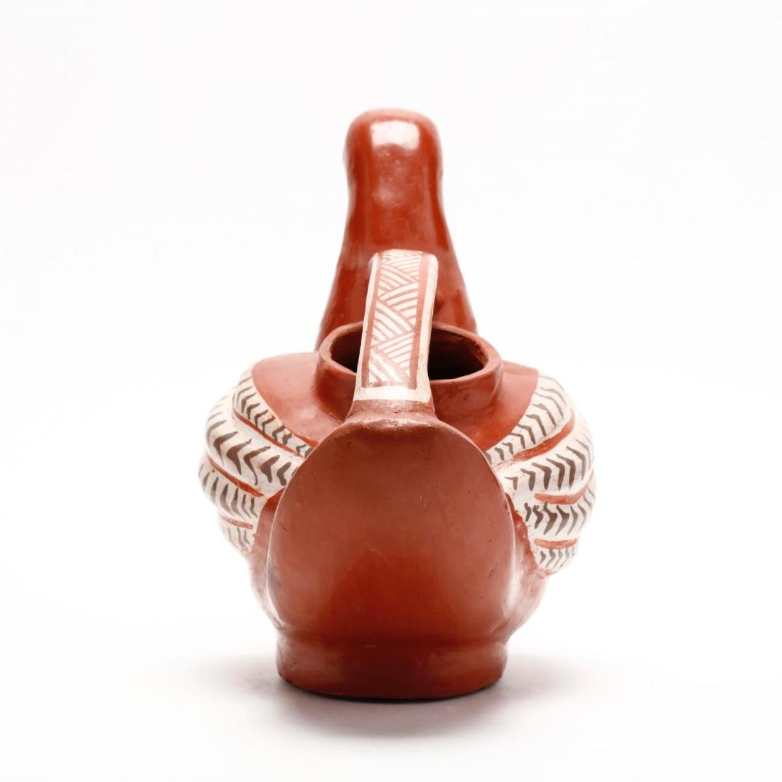 Mexican Pottery Bird Pitcher - 4