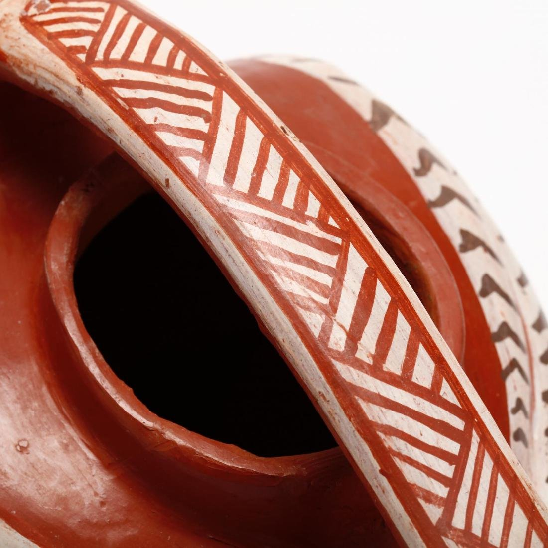 Mexican Pottery Bird Pitcher - 5