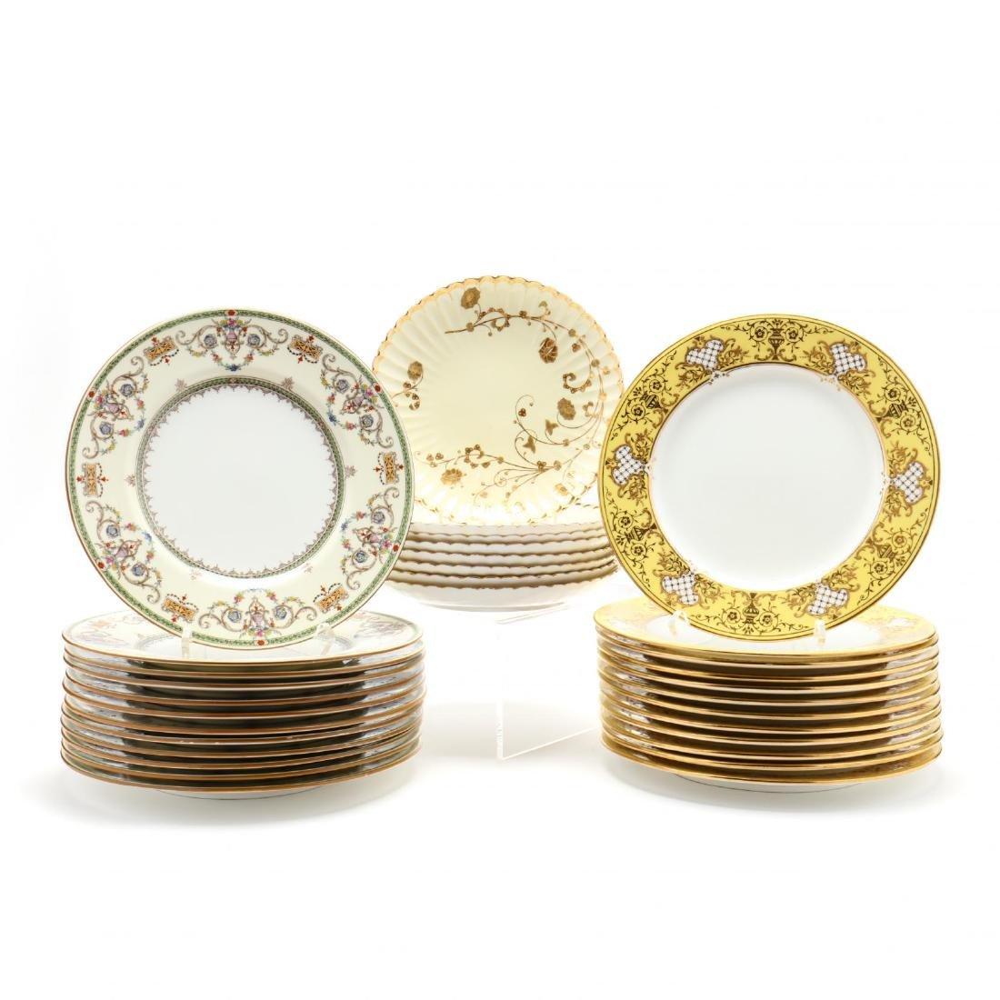 Three Sets of English Plates