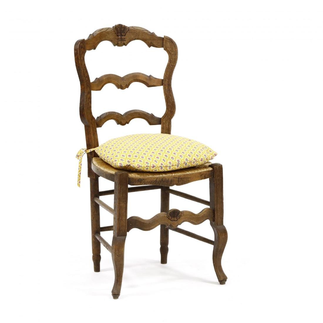 Set of Six French Provincial Style Dining Chairs - 2