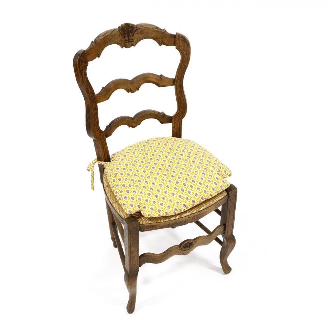 Set of Six French Provincial Style Dining Chairs - 3