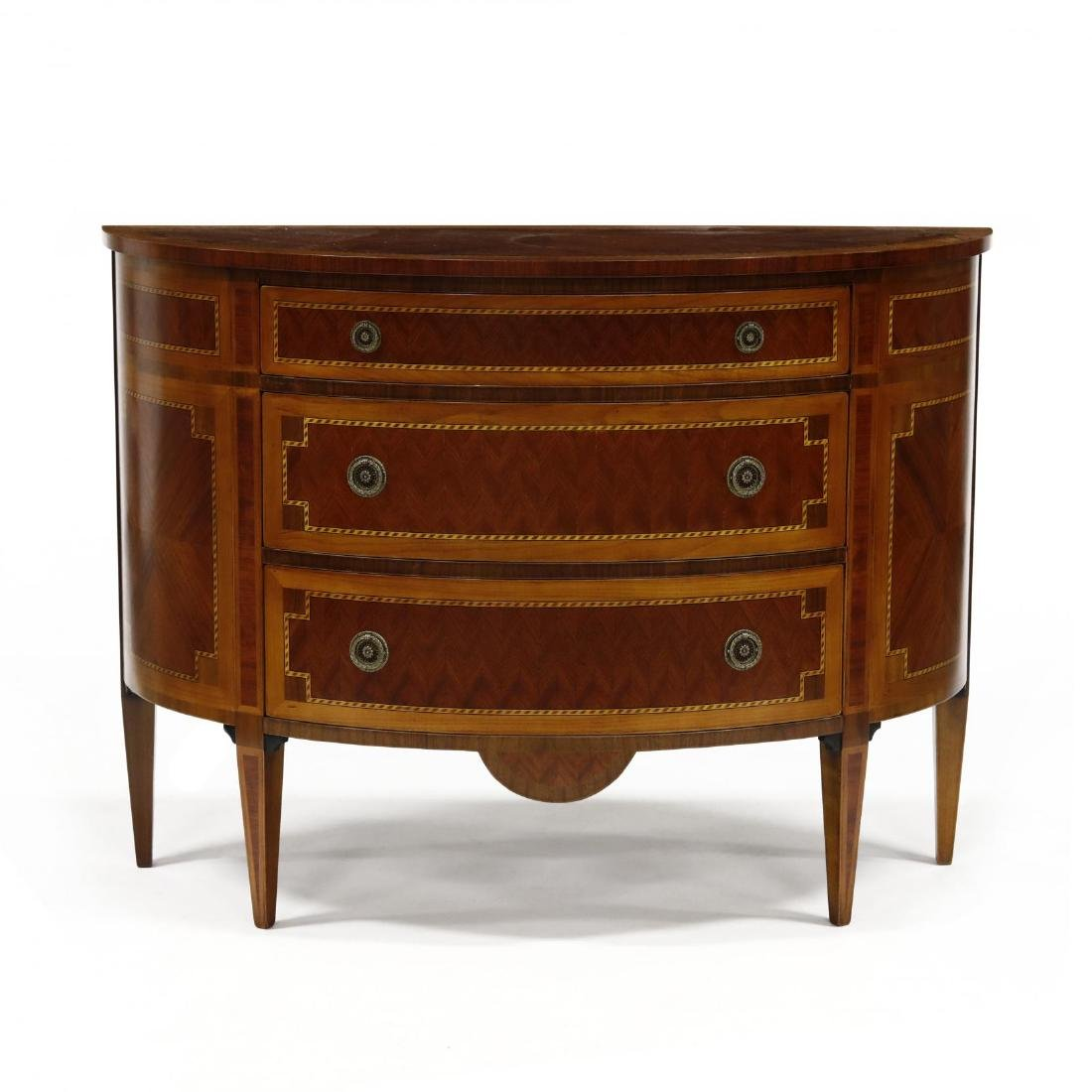 Italian Inlaid Mahogany Commode