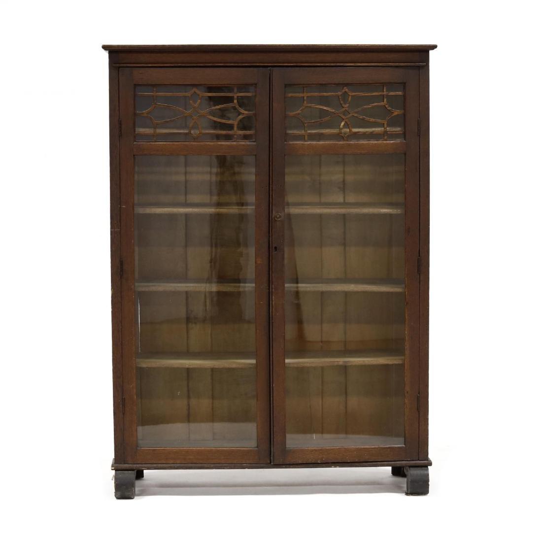 Larkin Soap Co. Oak Display Cabinet