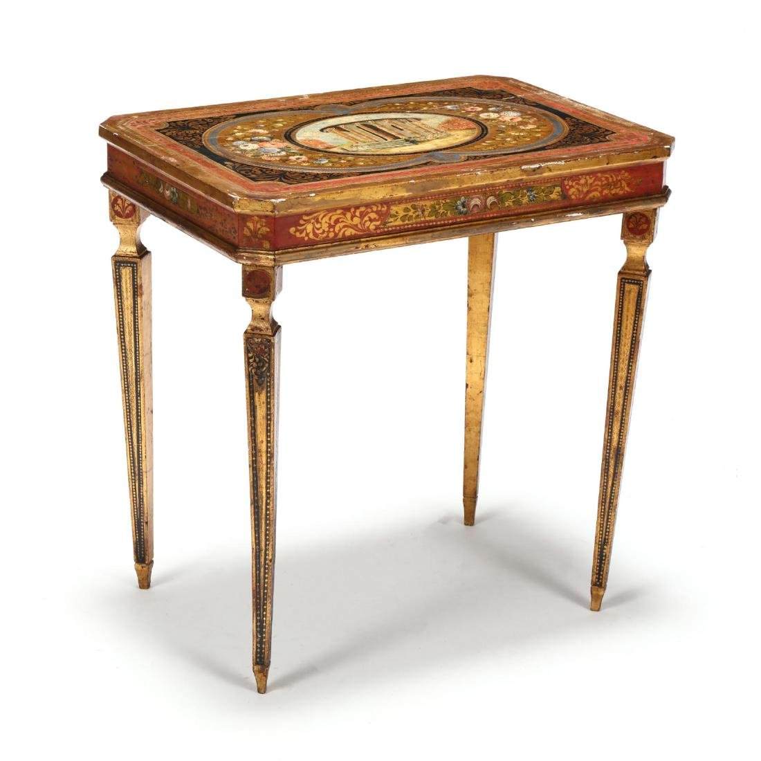 Vintage Florentine Painted and Gilt Table