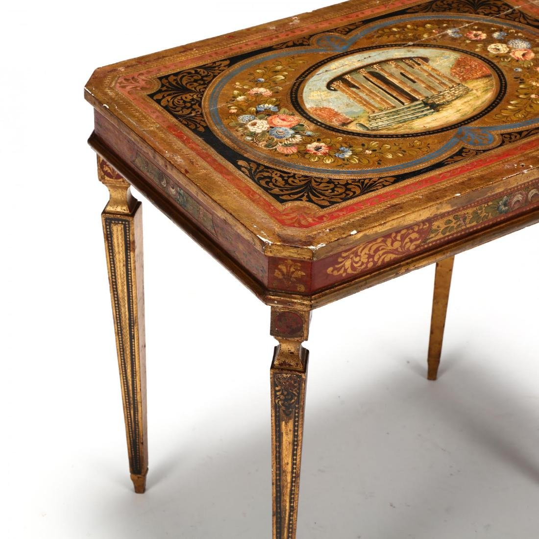 Vintage Florentine Painted and Gilt Table - 3