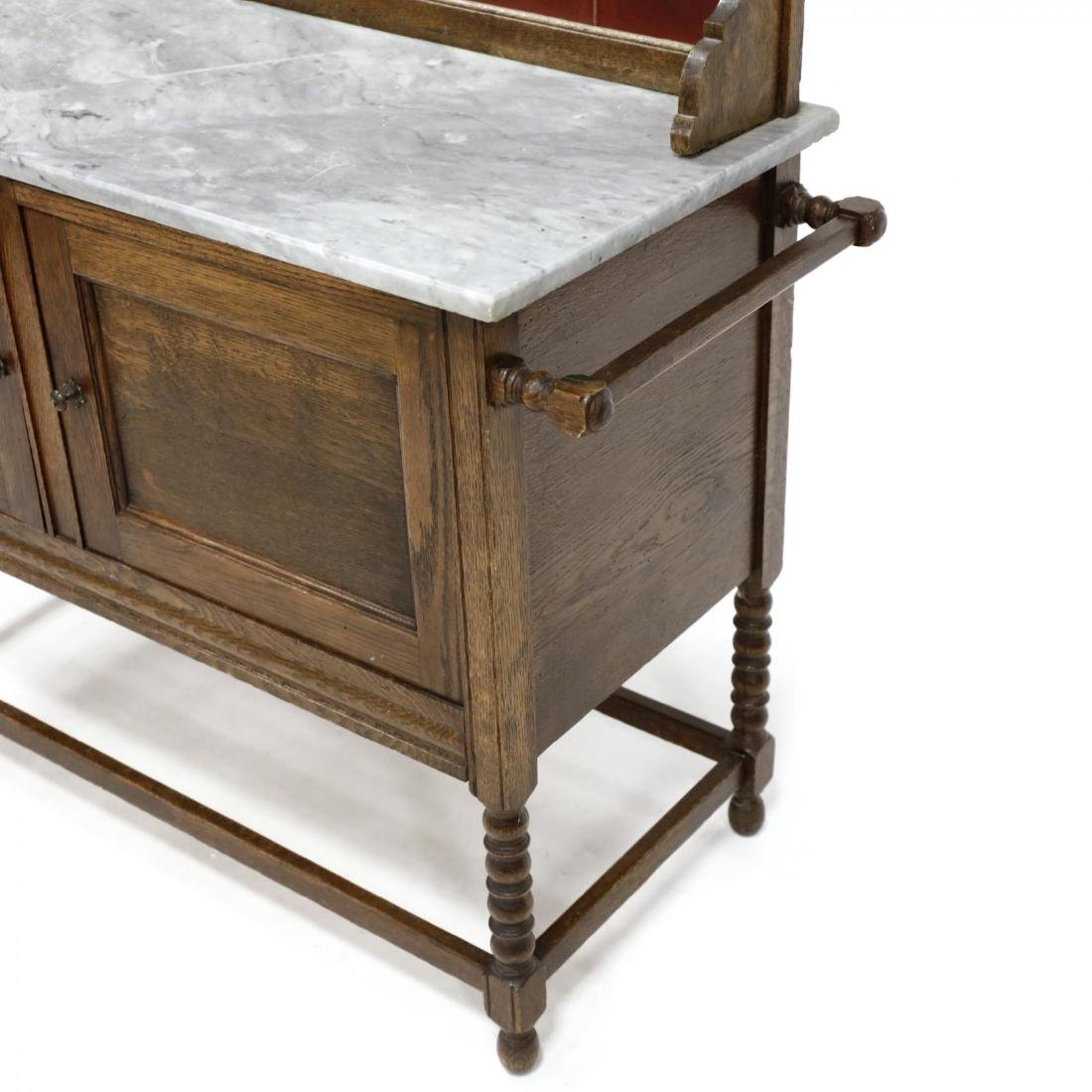 Edwardian Oak Wash Stand - 4