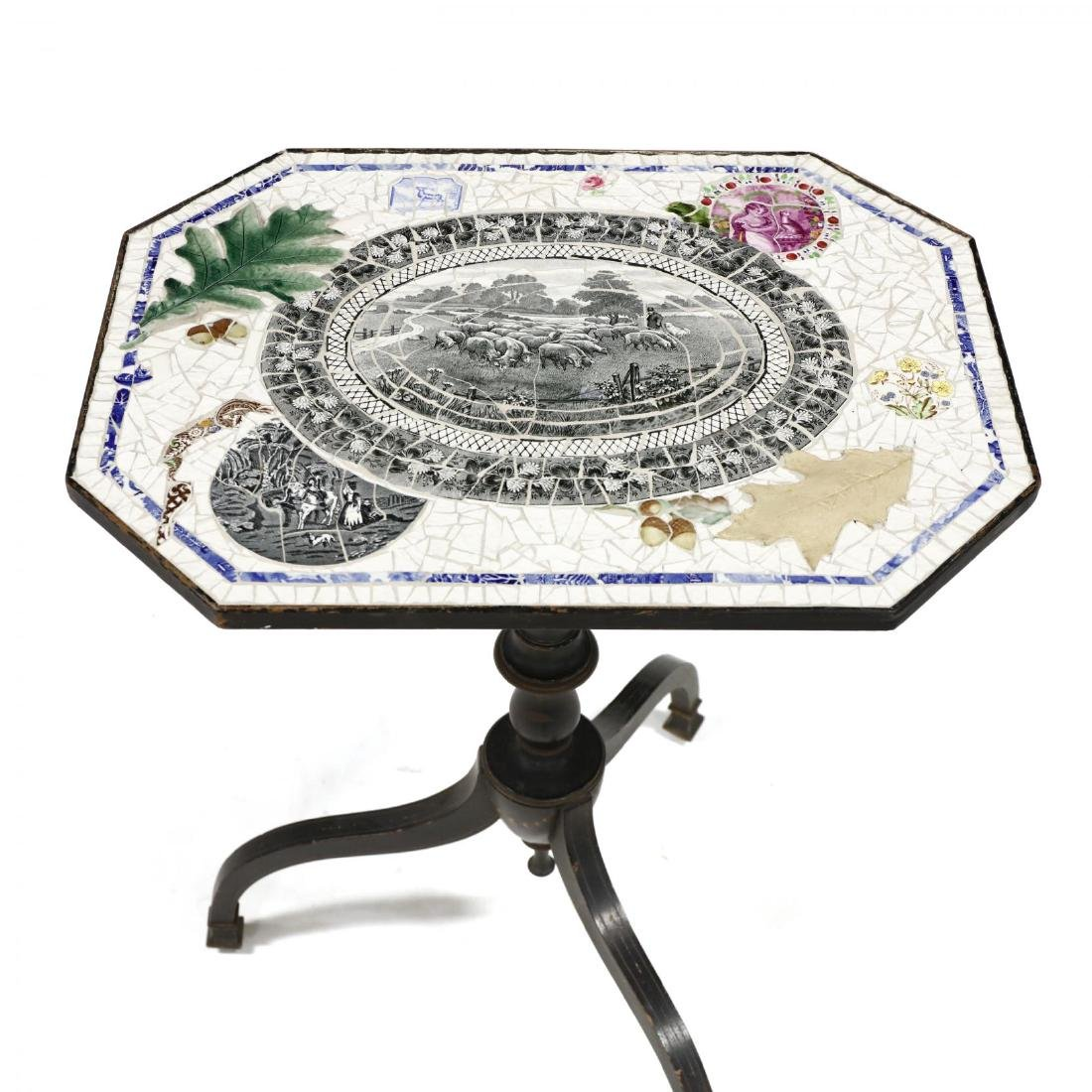Vintage Mosaic Top Table - 2