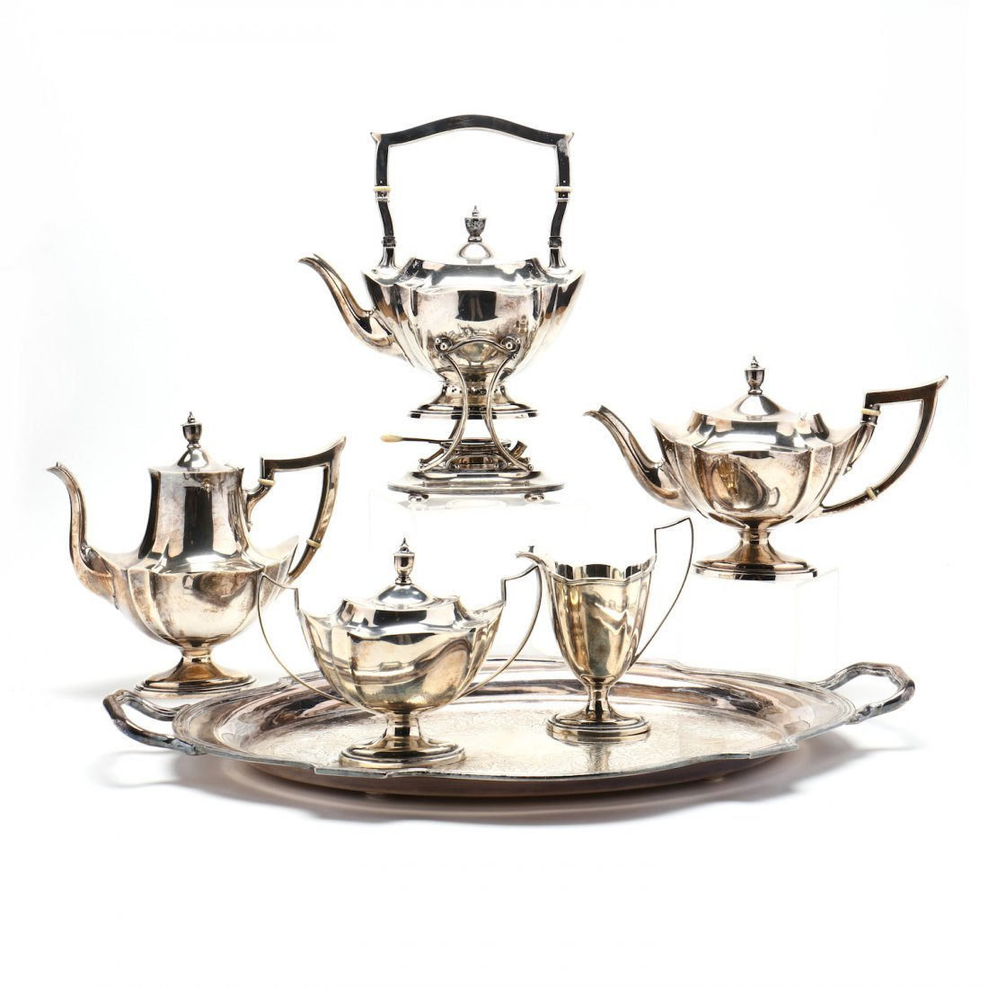 """A Gorham """"Plymouth"""" Sterling Silver Tea & Coffee Servic"""